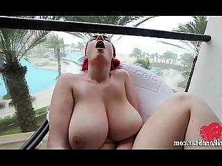 Big Tits Boobs Dildo Masturbation Natural Redhead Solo Squirting