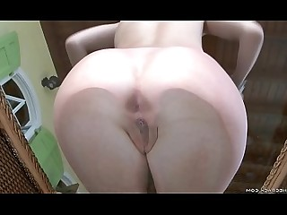 Anal Ass Close Up Glasses Innocent Kiss Nude Redhead
