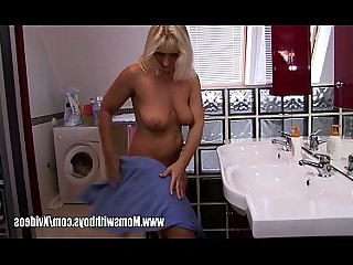 Bathroom Big Tits Blonde Blowjob Close Up Cougar Hardcore Mammy
